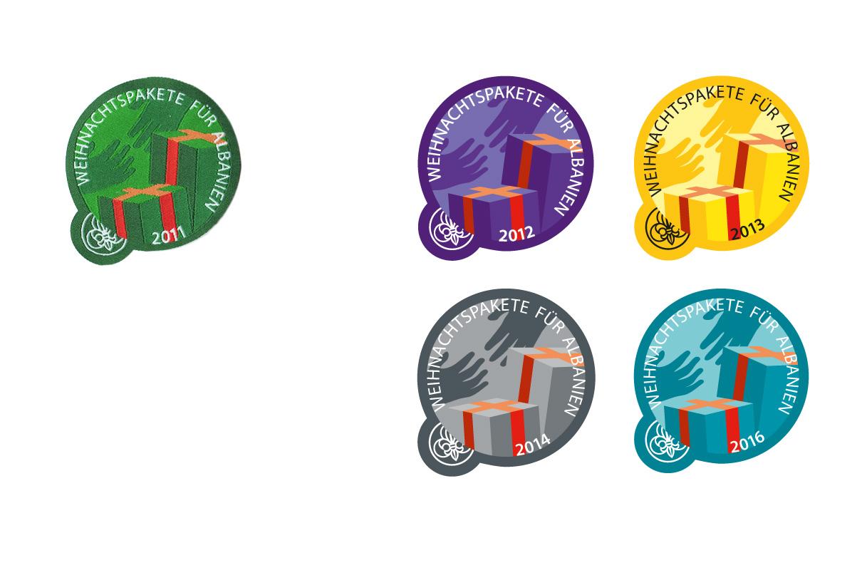 Badges: Albanienpakete (PPÖ Vorarlberg)