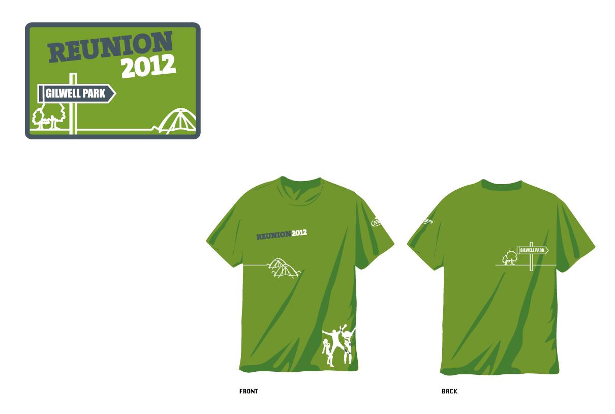 Badges & t-shirts: Gilwell Reunion 2012 Gilwell Park (TSA)