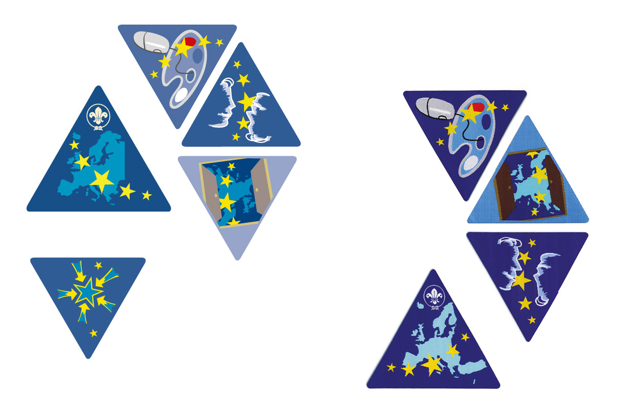 Badges: Lands of Adventure (WOSM Europe)