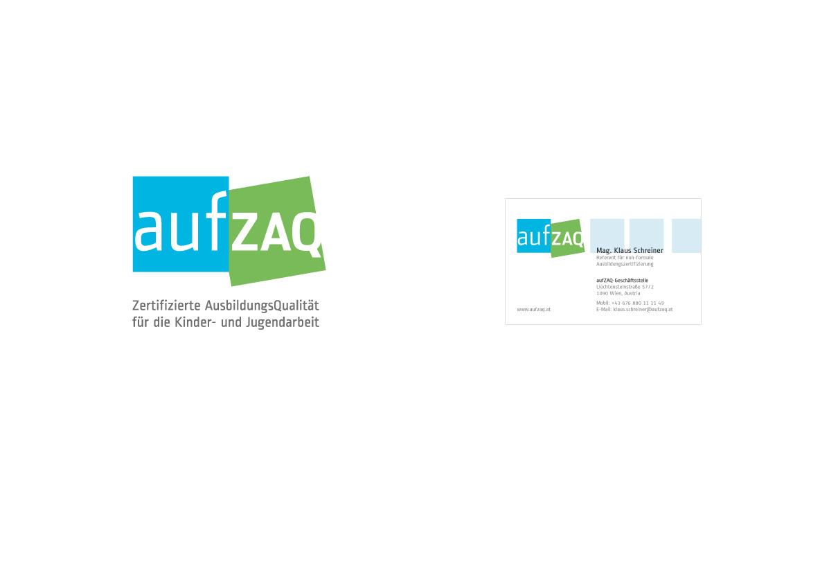 Corporate design: aufZAQ