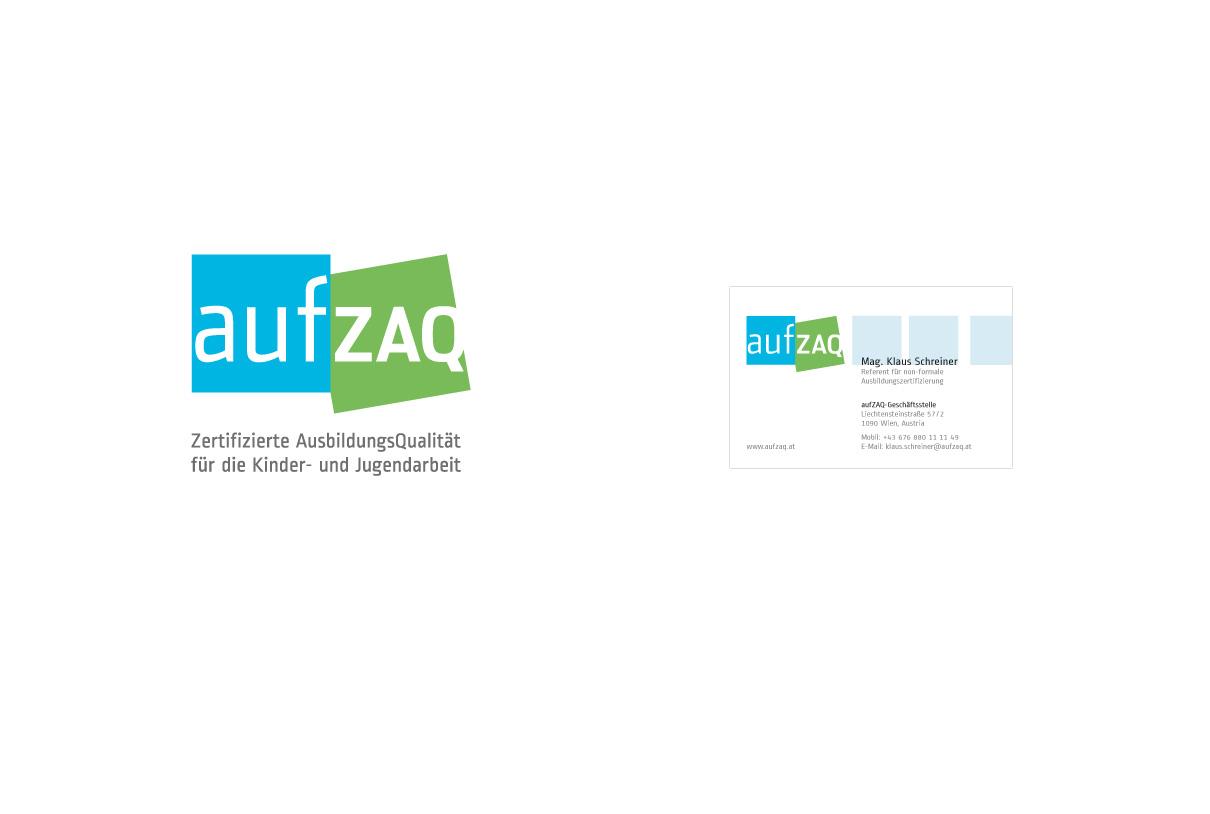 Corporate design: aufZAQ