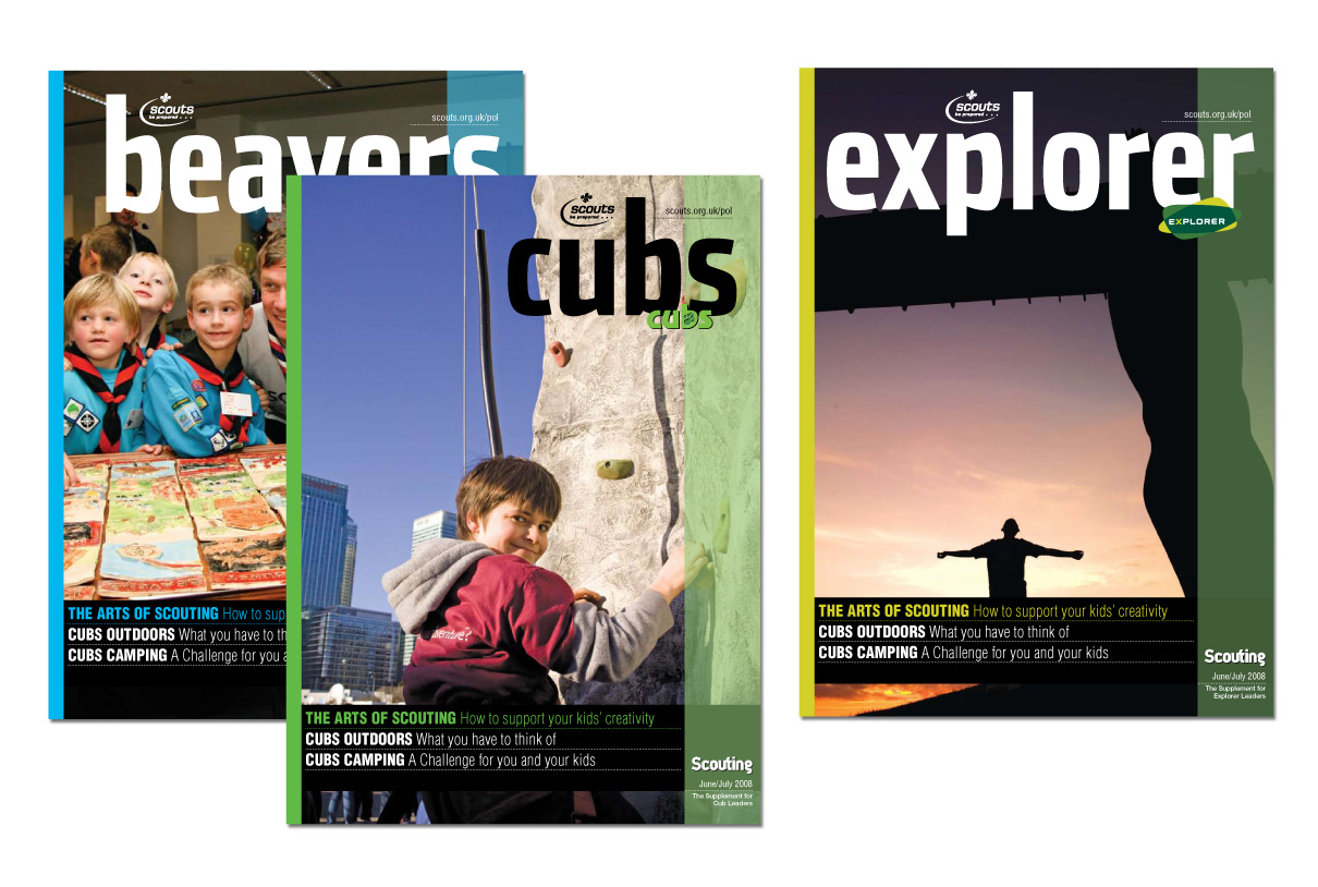 Editorial Design: Scouting Magazine supplements
