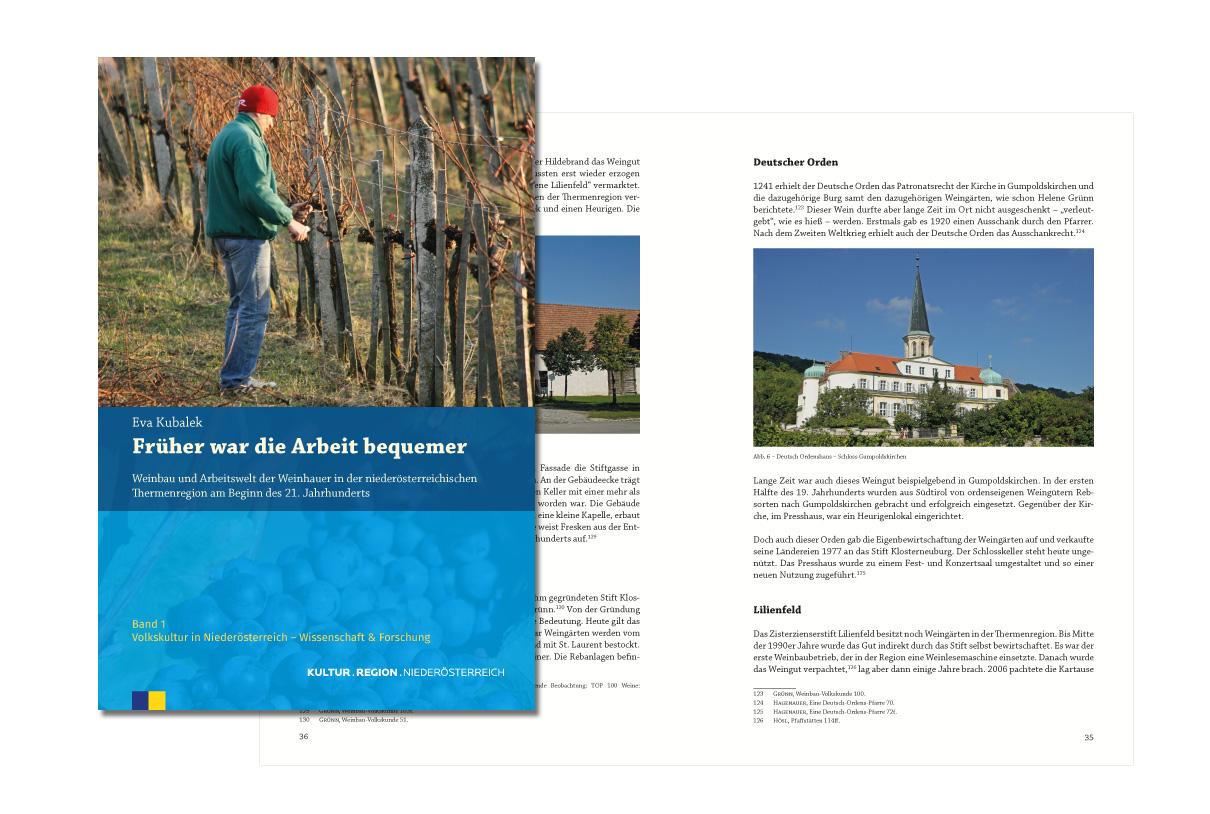 Editorial Design: Volkskultur in Niederösterreich - Früher war die Arbeit bequemer