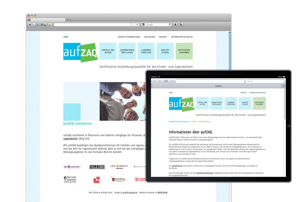 Web design: aufzaq.at