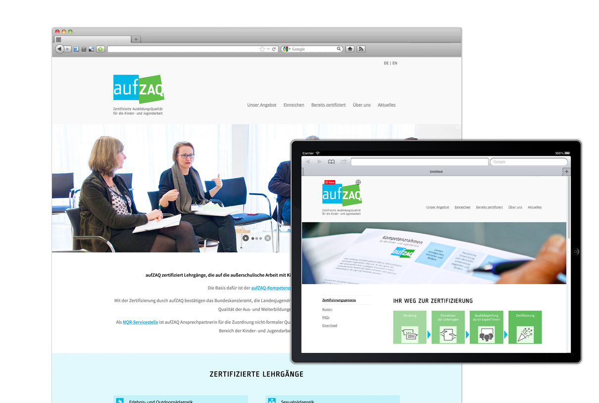 Web design: aufzaq.at