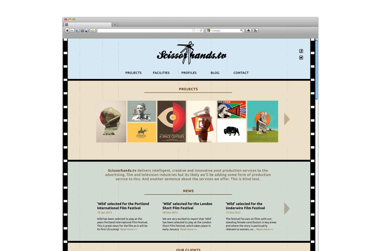 Web design: scissorhands pitch